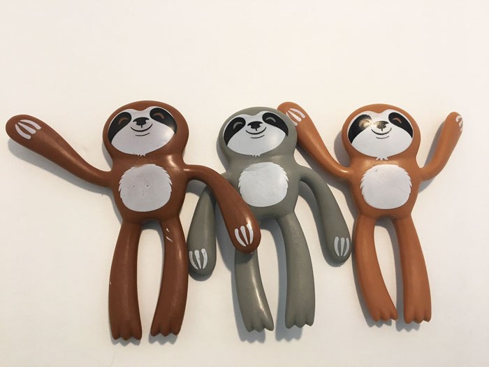 Bendable Sloth-24/pk