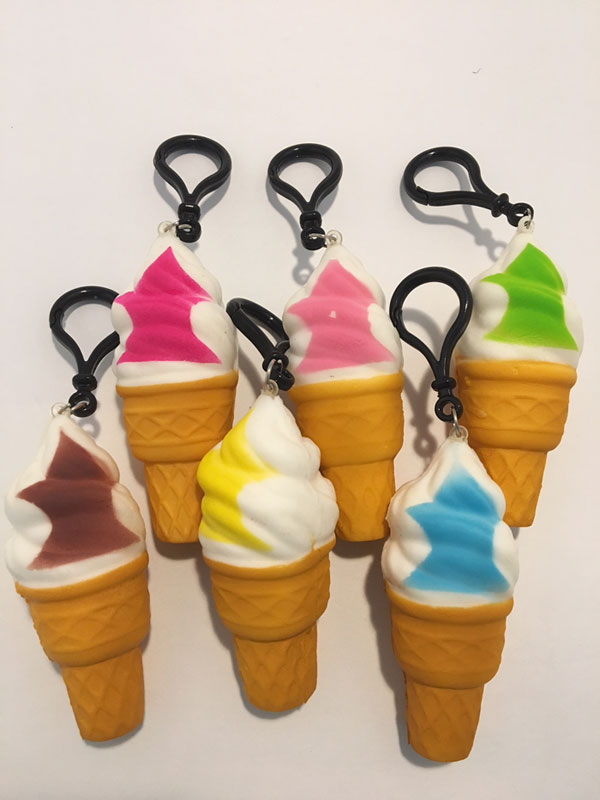Ice Cream Cone Squishy -12/pk