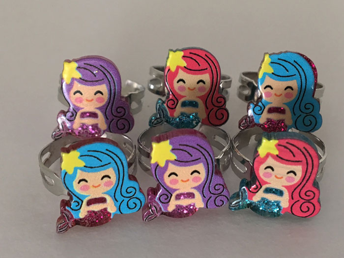 Mermaid Rings-36/pk